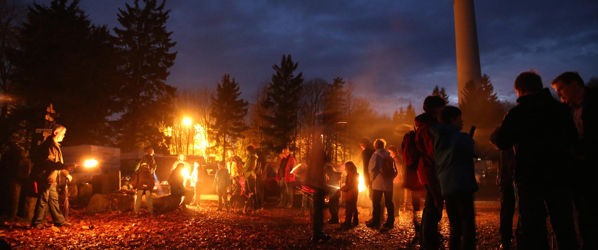 Romantische Bergweihnacht auf dem Hoherodskopf